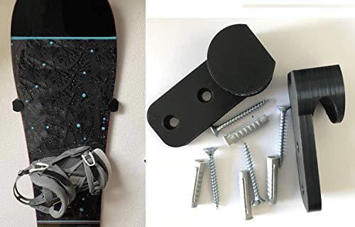 FT Product - Supporto da parete per snowboard, montaggio a parete, viti e tasselli inclusi, colore:...