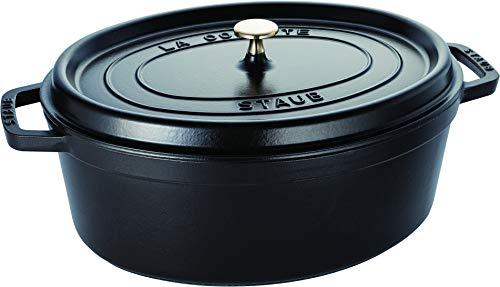 STAUB Cocotte en Fonte, Ovale 37 cm, 8 L, Noir