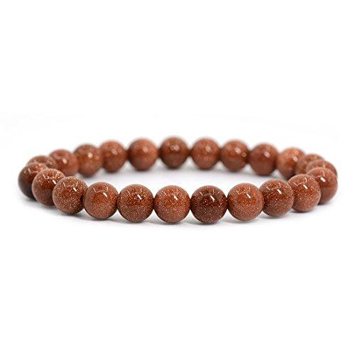 Synthetic Goldstone Gemstone 8mm Round Beads Stretch...