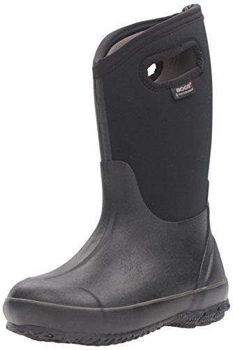 BOGS Kids' Classic High Waterproof Insulated Rubber Neoprene Rain Boot Snow, Black, 2 M US Little Kid
