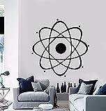 wZUN Ciencia Nuclear Química Física Pared Escuela Aula Habitación de los niños Decoración de Pared de Vinilo 42X42cm