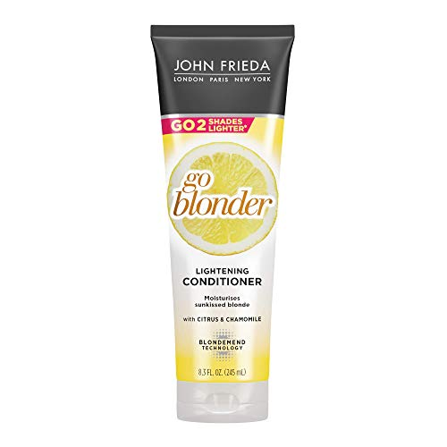 John Frieda Sheer Blonde Go Blonder Conditioner, 8.3 Ounce Gradual Lightening Conditioner, with citrus and chamomile, featuring our BlondMend Technology