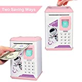 Lefree Piggy Bank,Coin Bank,ATM Bank,Smart Electronic Piggy Bank, Mini ATM,Safe with Password Mini ATM Bank (Pink)