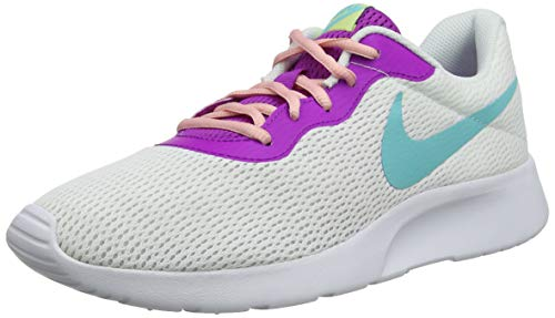 Nike Women's, Tanjun Running Sneaker White Multi 10 M