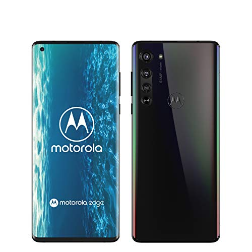 "Motorola Edge - Smartphone de 6.7"" FHD+ (5G, Pantalla Curva o-Notch 90 Grados, procesador Qualcomm Snapdragon SM7250, cámara 64 MP, batería 4500 mAH, Dual SIM, 6/128 GB, Android 10) Negro"