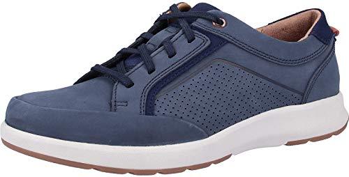 Clarks Un Trail Form, Zapatos de Cordones Derby, Azul (Navy Nubuck-), 42 EU