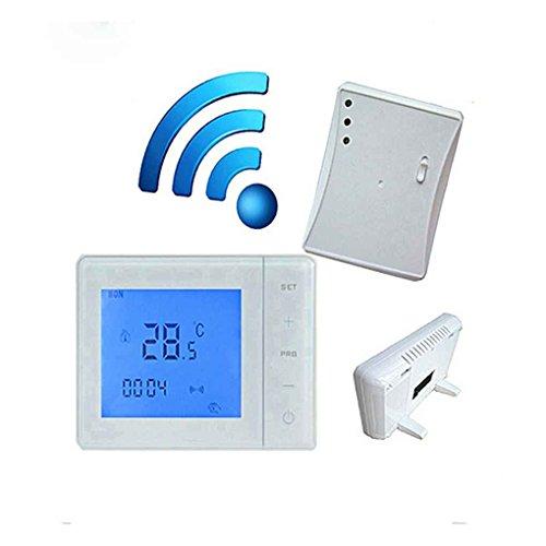 Topker 433 MHZ Sans Fil Gaz Chaudière Thermostat RF Contrôle 5A Mur-accroché Chaudière Thermostat Numérique LCD Température Contrôleur