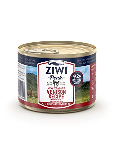 ZIWI Peak Canned Wet Cat Food – All Natural, High Protein, Grain Free, Limited Ingredient, with Superfoods (Venison, Case of 12, 6.5oz Cans)