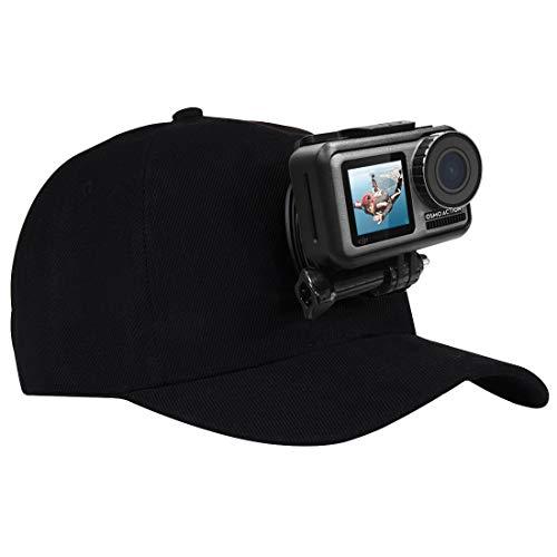 Puluz cappello da baseball con j-hook fibbia Mount & 1/10,2cm vite per tutte le fotocamere GoPro, SJ e Xiaoyi, Black