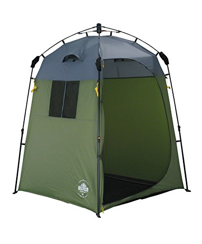Lumaland Outdoor Pop Up Shower Tent Dressing Tent Privacy Toilet Tent Standing Height 2.05 m Changing Tent Shelter Sunshade Camping 155x155x220 cm green