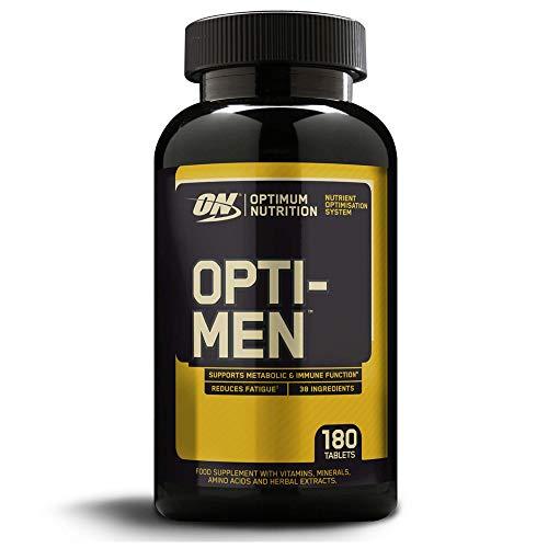 Optimum Nutrition ON Optimen Multivitamin Kapseln, Vitamine und Mineralstoffe Tabletten für Männer mit Zink, Magnesium und Aminosäuren Komplex Hochdosiert, 60 Portionen 180 Kapseln