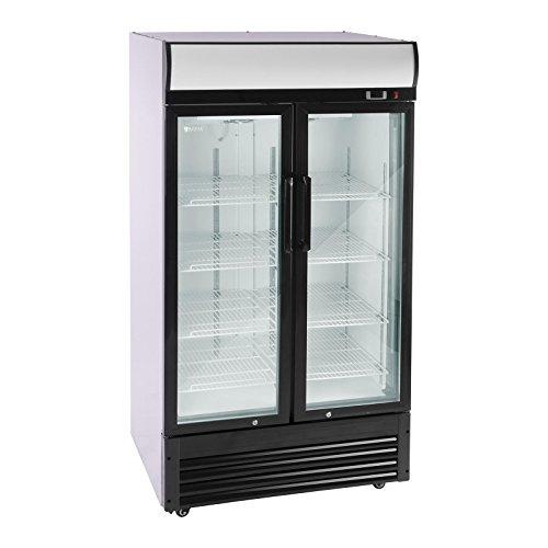 Royal Catering RCGK-B630-2 Vetrina frigo per bibite Frigorifero per bevande (630 L, 350 W, acciaio...