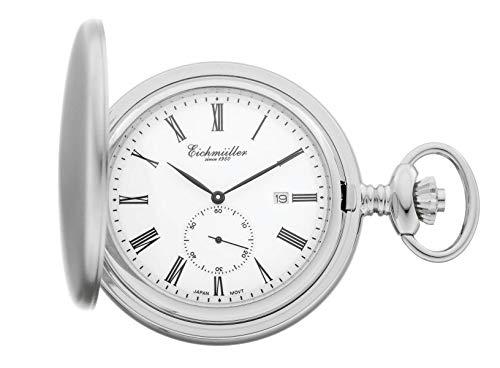 Eichmüller Since 1950 Taschenuhr Quarzwerk Kleine Sekunde Datum incl. Kette 8211-01
