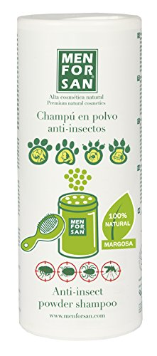 MENFORSAN Champú en polvo con Repelente de Insectos Perros, Gatos,...