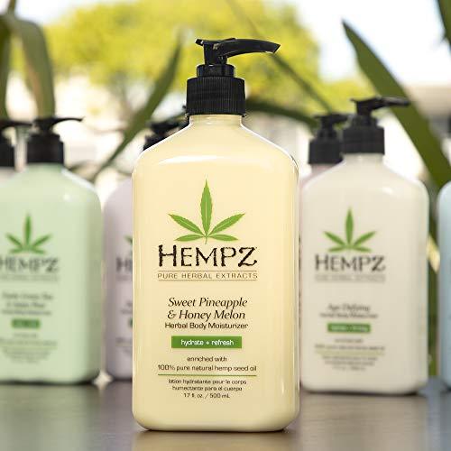 Hempz Sweet Pineapple & Honey Melon Moisturizing Skin Lotion, Natural Hemp Seed Herbal Body Moisturizer with Jojoba, Natural Extracts, Vitamin A and E, 17 oz 6