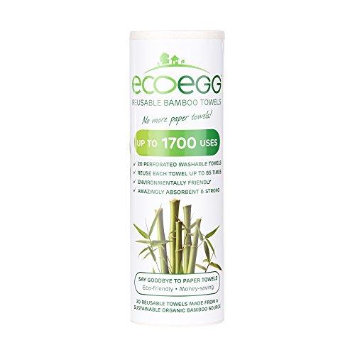 Ecoegg servilletas de Tela Reutilizables de Fibra de bambú, Color...