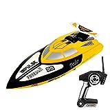 Moto acuática de alta velocidad, mando a distancia eléctrico, 4 canales, lancha rápida de 25 MPH, rc, para adultos, recargable, 2,4 g, radio, anticolisión, rc, para piscinas y lagos, más rápido, carre