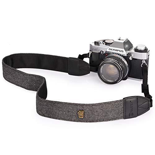 TARION - Correa para el Hombro y el Cuello para Todas Las cámaras réflex Digitales, Nikon, Canon, Sony, Pentax Classic, Color Blanco y Negro