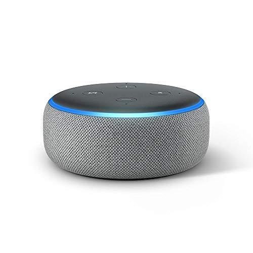 Echo Dot (3.ª generación) - Altavoz inteligente con Alexa, tela de color gris oscuro