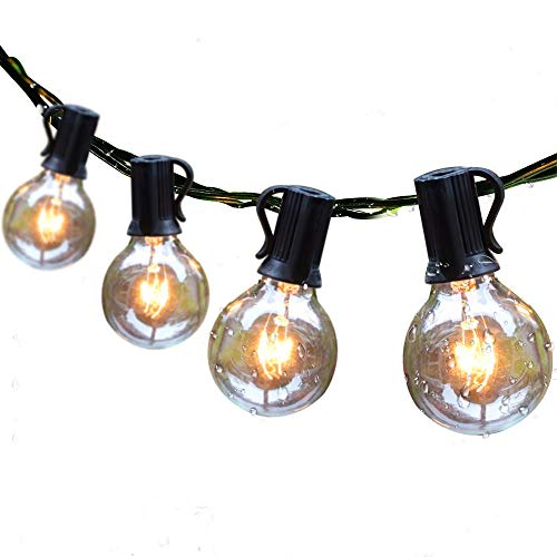 Guddl Outdoor String Lights 25ft Patio Lights with 27 G40 Bulbs...