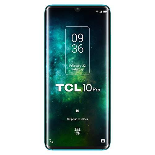 "TCL 10 Pro - Smartphone de 6.53"" FHD+ con NXTVISION (Qualcomm 675 4G, 6GB/128GB Ampliable MicroSD, Cámaras de 64MP+16MP+5MP+2MP, Batería 4500mAh, Android 10 actualizable) Color Verde"