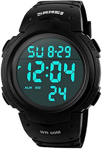 SKMEI Montre de Sport étanche avec Alarme/Chronomètre, Large Poignet...