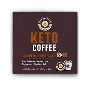 Rapid Fire Caramel Macchiato Ketogenic High Performance Keto Coffee Pods, Supports Energy & Metabolism, Weight Loss, Ketogenic Diet 16 Single Serve K Cup Pods 9 - My Weight Loss Today