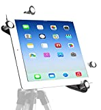iShot G7 Pro iPad Pro 12.9/11 / 9.7/10.5 All Metal Tripod Mount Adapter Holder + Free Bluetooth Camera Shutter/Video Remote - Works with Cases Compatible with All iPad Gen. & Other 7-13' Tablets