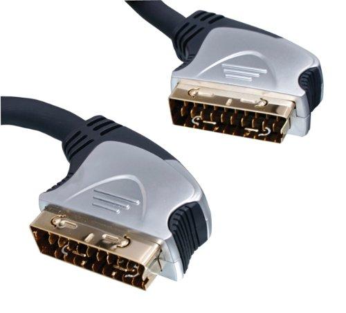 HQ Scart kabel (vergoldete Kontakten) 1,5 m