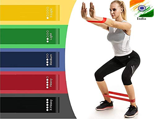 ADTALA Resistance Bands for Legs and Butt - Set of 5 Workout Bands for Stretching, Fitness, Physical Therapy, Home Workout - Extra Wide to Prevent Rolling