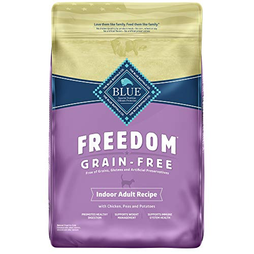 Blue Buffalo Freedom Grain Free Natural Indoor Adult Dry Cat Food Chicken 11-lb.