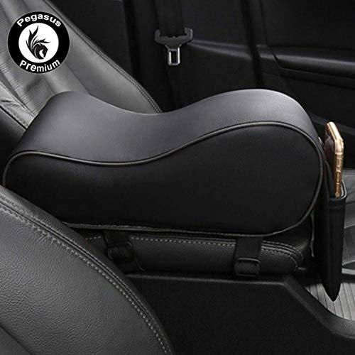 PegasusPremium 3D PU Leather Breathable Memory Foam Car Center Console Armrest Cushion for All Cars (Tan)