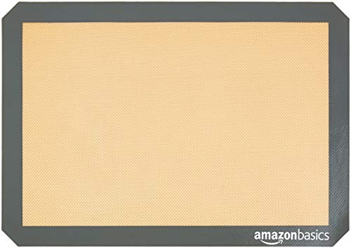 AmazonBasics Silicone, Non-Stick, Food Safe Baking Mat - Pack of 4