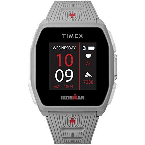TIMEX IRONMAN R300 GPS Smartwatch with Heart Rate 41mm – Light Gray with Silicone Strap