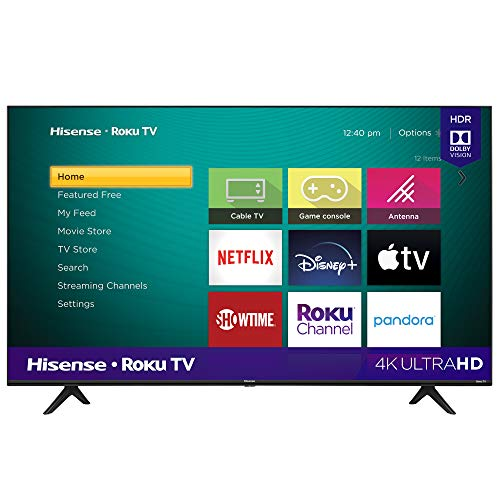 Hisense 50-Inch Class R6090G Roku 4K UHD Smart TV with Alexa Compatibility (50R6090G, 2020 Mode…