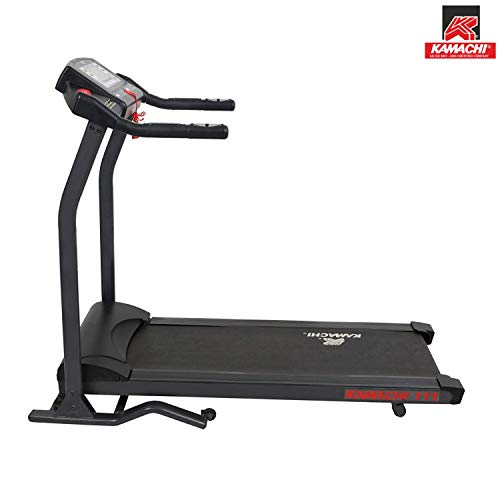 Kamachi 111 (3 HP Peak) with Super Large LCD Display Motorized Treadmill for Cardio Workout