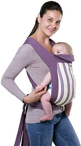 Amazonas Mei Tai - Alternativa alla fascia, estremamente versatile e facile da indossare, 0 - 3 anni, blueberry/lila