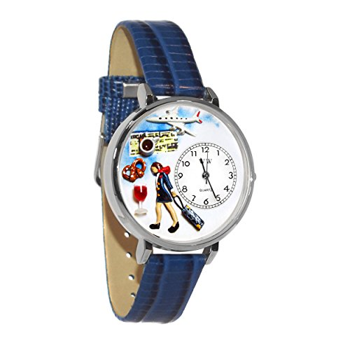 Whimsical Gifts Flight Attendant Watch in Silver Large Style