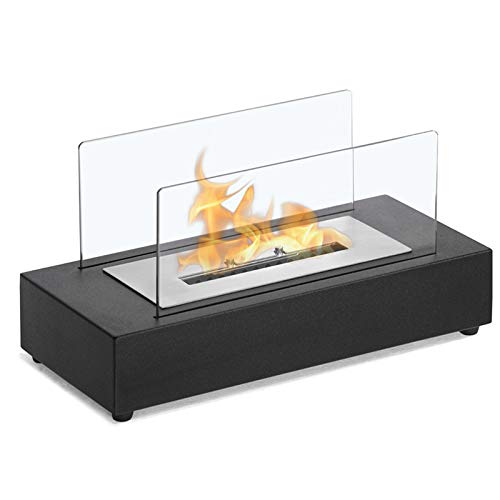 PYXZQW Ethanol Fireplace Heater, Portable Outdoor Ventless Tabletop Fireplace, with Fire Killer and 1000ml Plastic Container