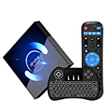 QPLOVE Android 10.0 TV Box【4G+64G】,avec Mini Clavier Touchpad H616 6K...
