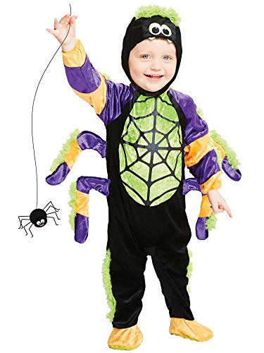 amscan 9907516 Childs Little Crawly Spider Halloween Fancy Dress Costume Age 3-4 Years