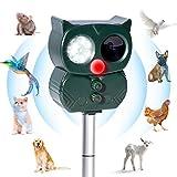 Répulsif Chat Ultrason Solaire Exterieur Répulsif Animaux Fréquence Réglable...