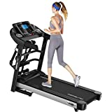 MORECON 2 Day Delivery Electric Treadmill for Home with LCD Monitor, Treadmills for Home, Max 2.25 HP Treadmill for Apartment, Treadmills with Incline for Running and Walking Jogging Exercise