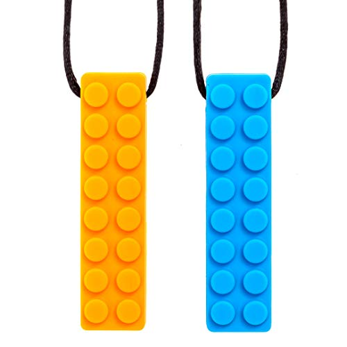Sensory Chew Necklace Chewing Tool–(2 Pack with Extra Cord...