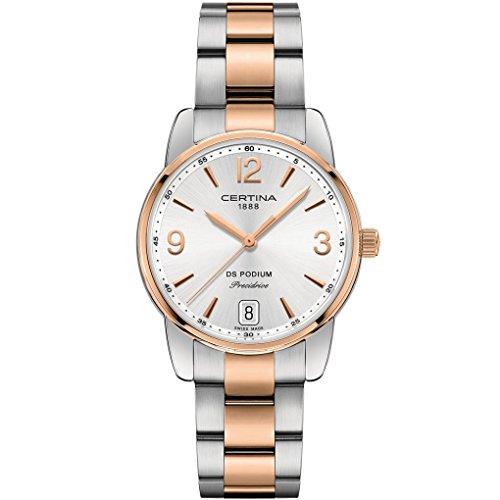 CERTINA DS Podium Damen-Armbanduhr 33MM Batterie C034.210.22.037.00