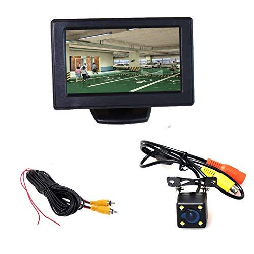 Kit parcheggio auto (monitor LCD da 4,3 pollici + videocamera HD + cavo 6M / 20FT) Visione notturna a LED