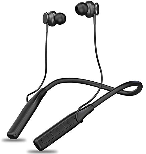 Wireless Earphones Headphones for Samsung Galaxy S8 Plus, Samsung Galaxy S9, Samsung Galaxy S9 Mini, Samsung Galaxy S9 Plus, Samsung Galaxy Tab S3 LTE, Samsung Galaxy Tab S3 WiFi, Samsung Galaxy S8 Mini Charger Sports Bluetooth Wireless Earphone with Deep Bass and Neckband Hands-Free Calling inbuilt Mic Headphones with Long Battery Life and Flexible Headset (A 8, Black)