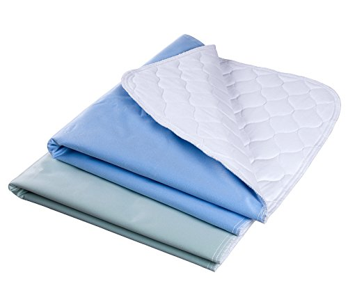 Waterproof Reusable Incontinence Bed Pads Washable Incontinence Underpads 8 Cups Absorbency, 2 Pack Non-Slip Mattress Protector for Adults, Kids and Pets(28X 36 inch)