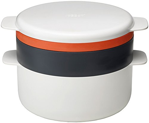 Joseph Joseph Microwave Set di Pentole, Plastica, Bianco