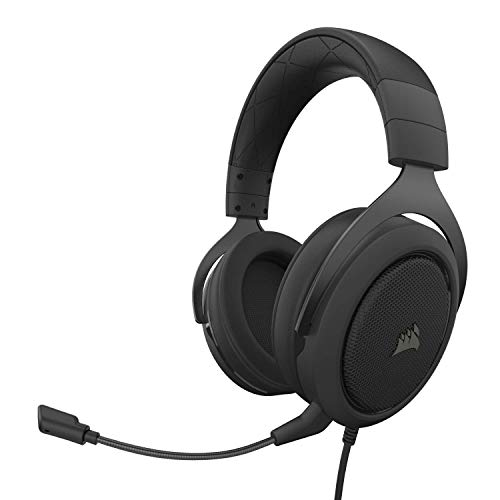 Corsair HS50 Pro - Stereo Gaming Headset - Discord Certified Headphones - Works with PC, Mac, Xbox One, PS4, Nintendo Switch, iOS and Android  Carbon